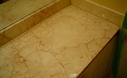 Marble Vanity Damaged by Improper Cleaning Solutions