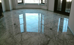 Marble Floor Cleaned, Polished, and Restored to Like New