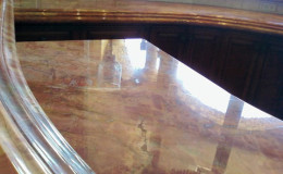 Polished and Restored Marble Countertop with Etches Removed